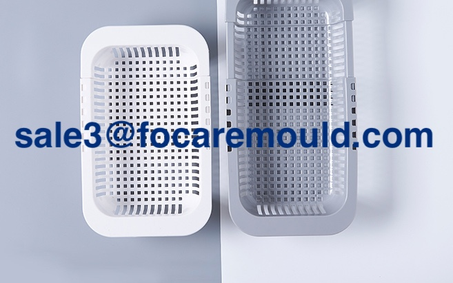 Adjustable retractable drain basket plastic injection mold