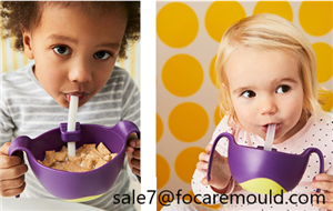 Two-color non-slip toddler bowl set