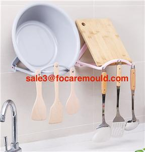 Reboundable wash basin rack plastic injection mold