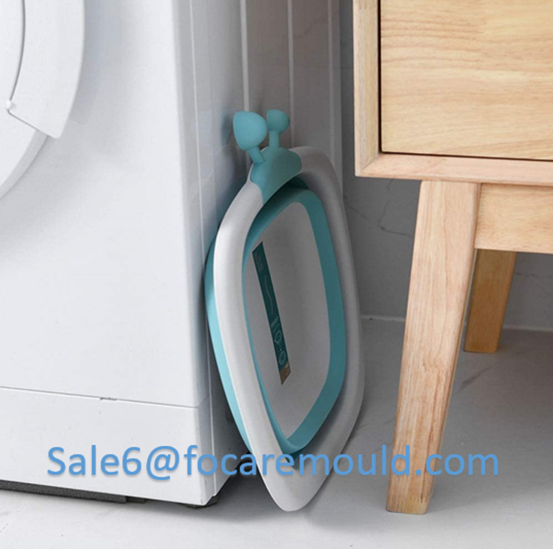 Two-color foldable baby washbasin plastic injection mould