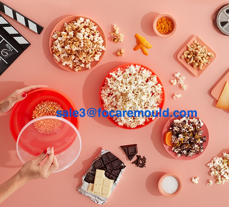Two-color popcorn bowl