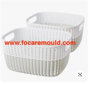 Two-color storage basket