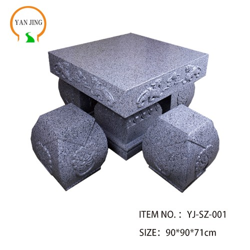 Artificial Granite Garden Table And Chair