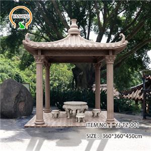 Artificial Garden Decorative Granite Gazebo