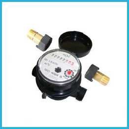 Single-jet Super Dry Cold Water Meter 5 rollers plastic