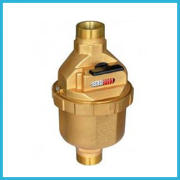 Volumetric Liquid Filled Meter Brass Body With Remote Cable