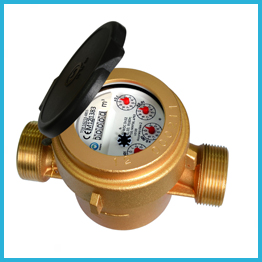 Single Jet Wet Type Water Meters brass