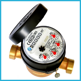 Single-jet Super Dry Cold Water Meter plastic 5 rollers
