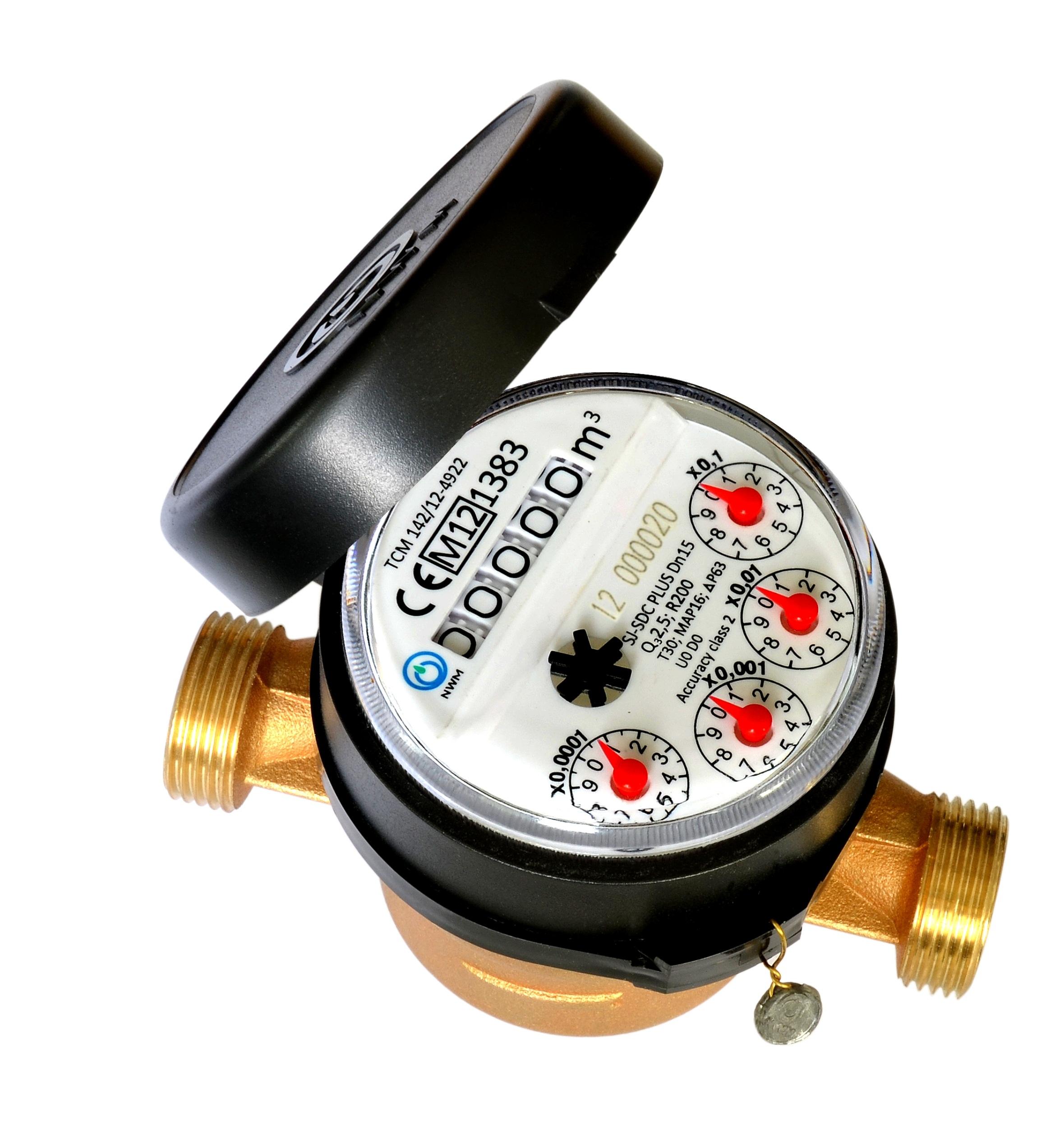 Single spray dry water meter, water meter MID certificate