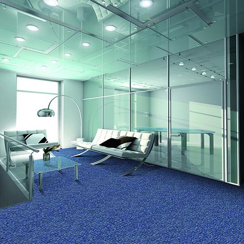 Nylon Printed bank Floor Jacquard Modular Carpet