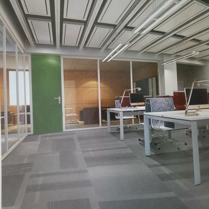 Plain or Jacquard Exhibition Stripe Modular Carpet