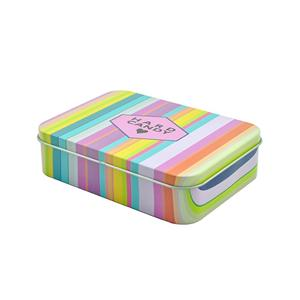 Rectangular Candy Tin Box With Hinge