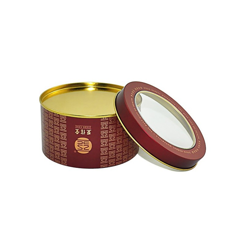 Round Tin Box With Window Manufacturers, Round Tin Box With Window Factory, Supply Round Tin Box With Window
