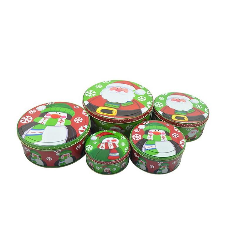 Round Tin Box Set For Christmas Manufacturers, Round Tin Box Set For Christmas Factory, Supply Round Tin Box Set For Christmas
