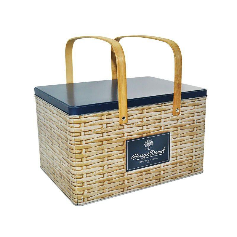 Gift Tin Box With Handle