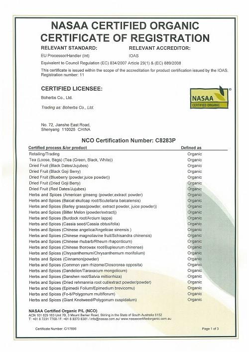 Certificat organique (UE)