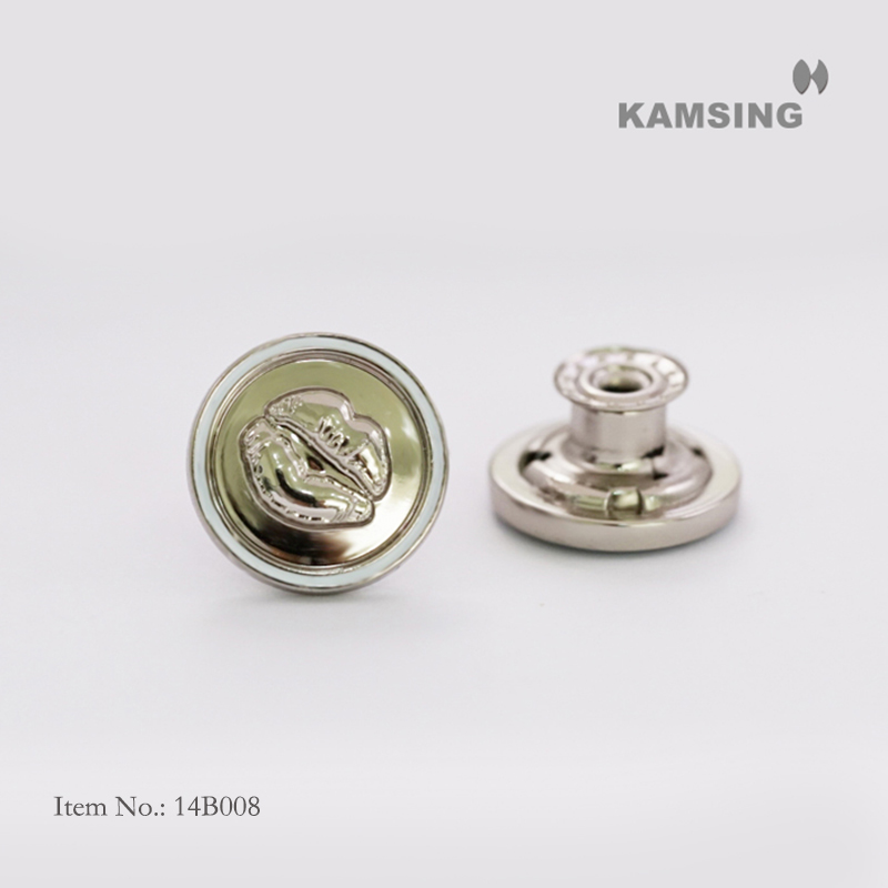 Embossed Swivel Base Jeans Button