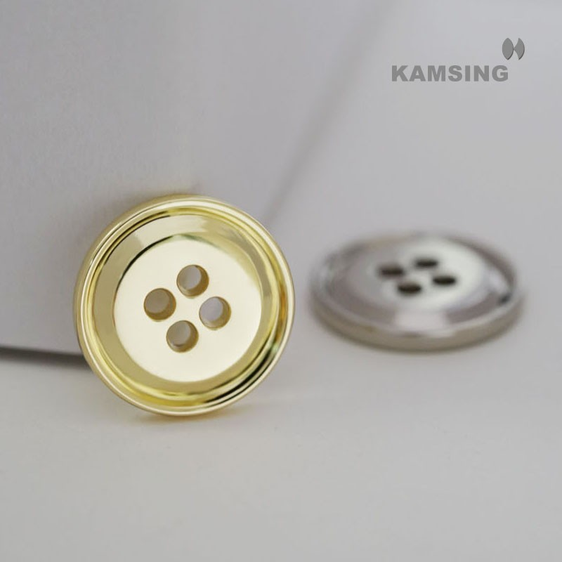 Alloy Hole Sewing Button
