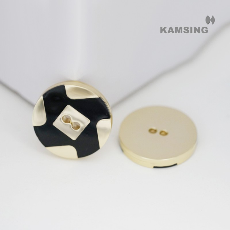 Hand Polishing Enamel 2-Hole Sewing Button