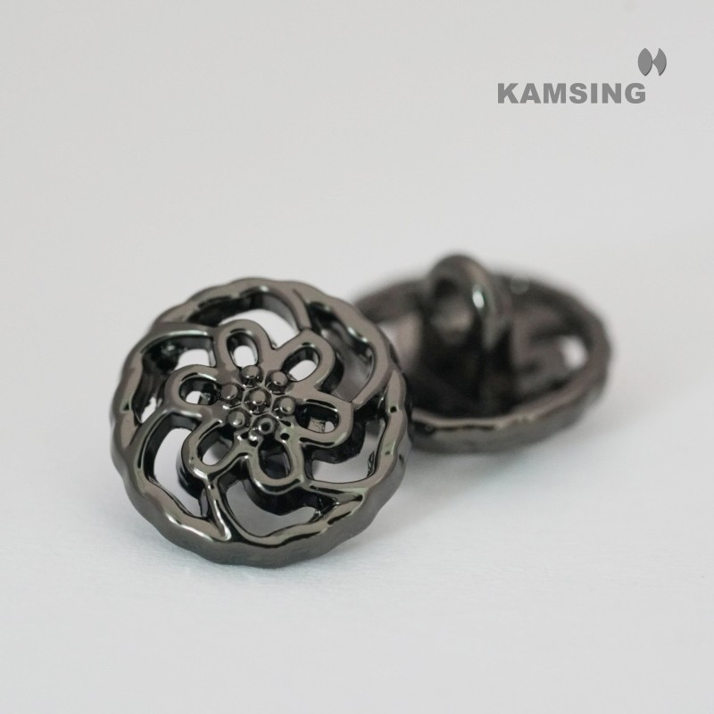 Hollow Flower Pattern Shank Button