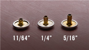 KAMSING ‖ How to Chose a Snap Button's Barrel Length