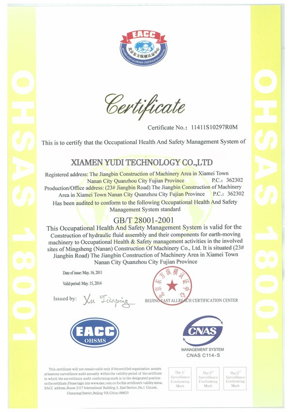 ISO9001 Certificate and CQC certificate