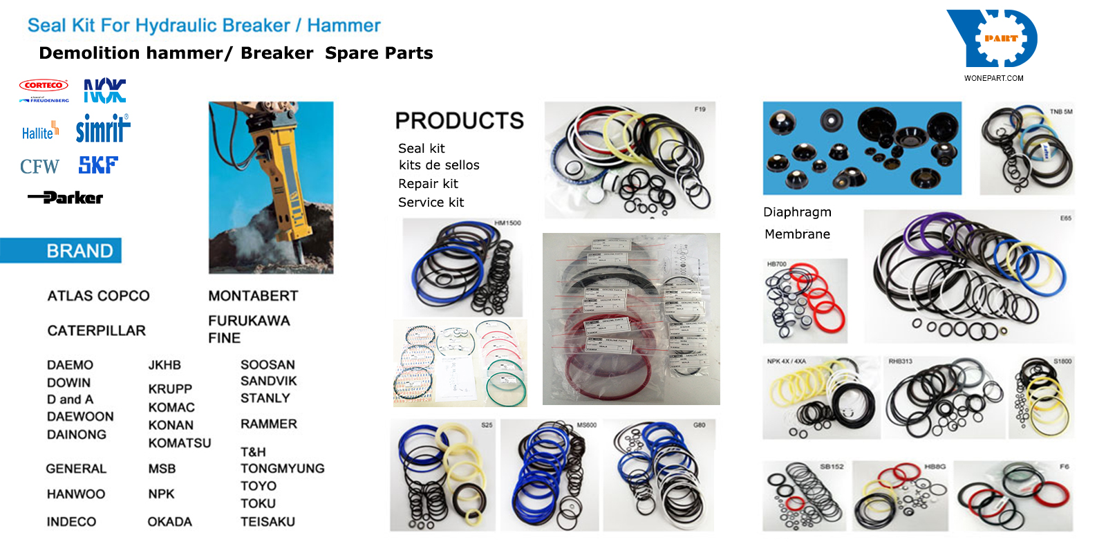 Demolition-hammer-breaker-spare-parts