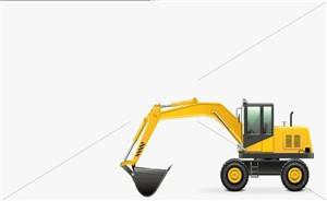 New excavators machinery to rebuild new economy and recovery after corona virus pandemic