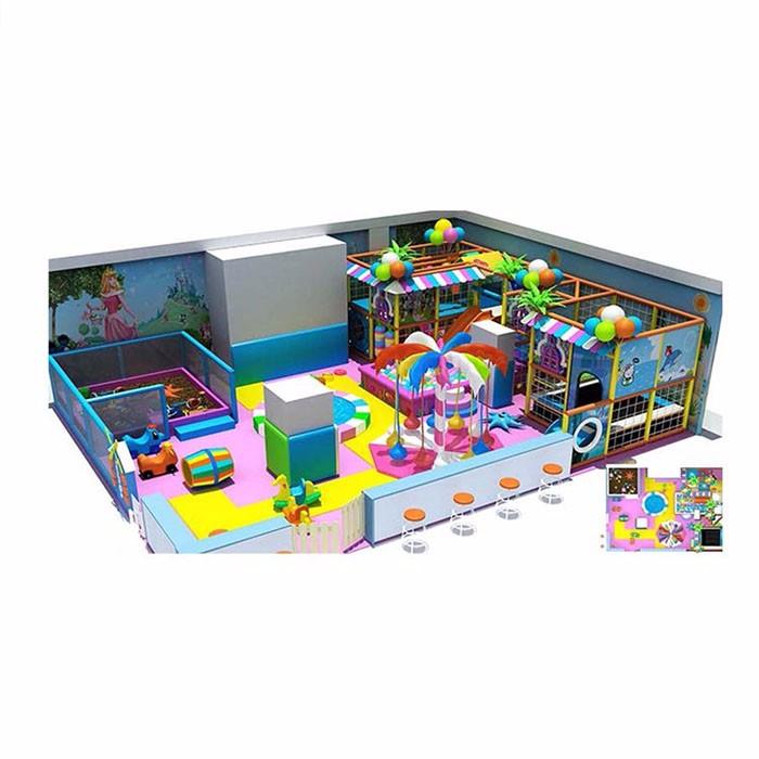 Children Enjoying Indoor Playground
