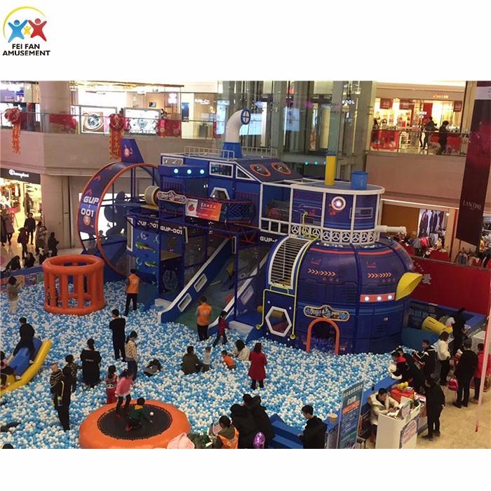 Children inside playground