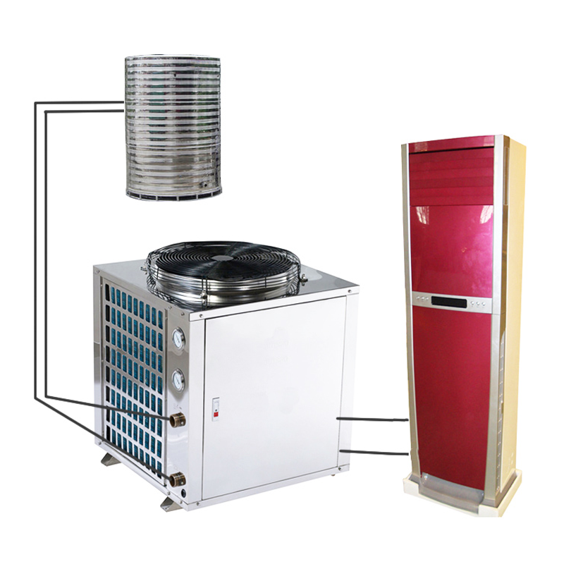 Air Source Heat Pump With Air Conditioner