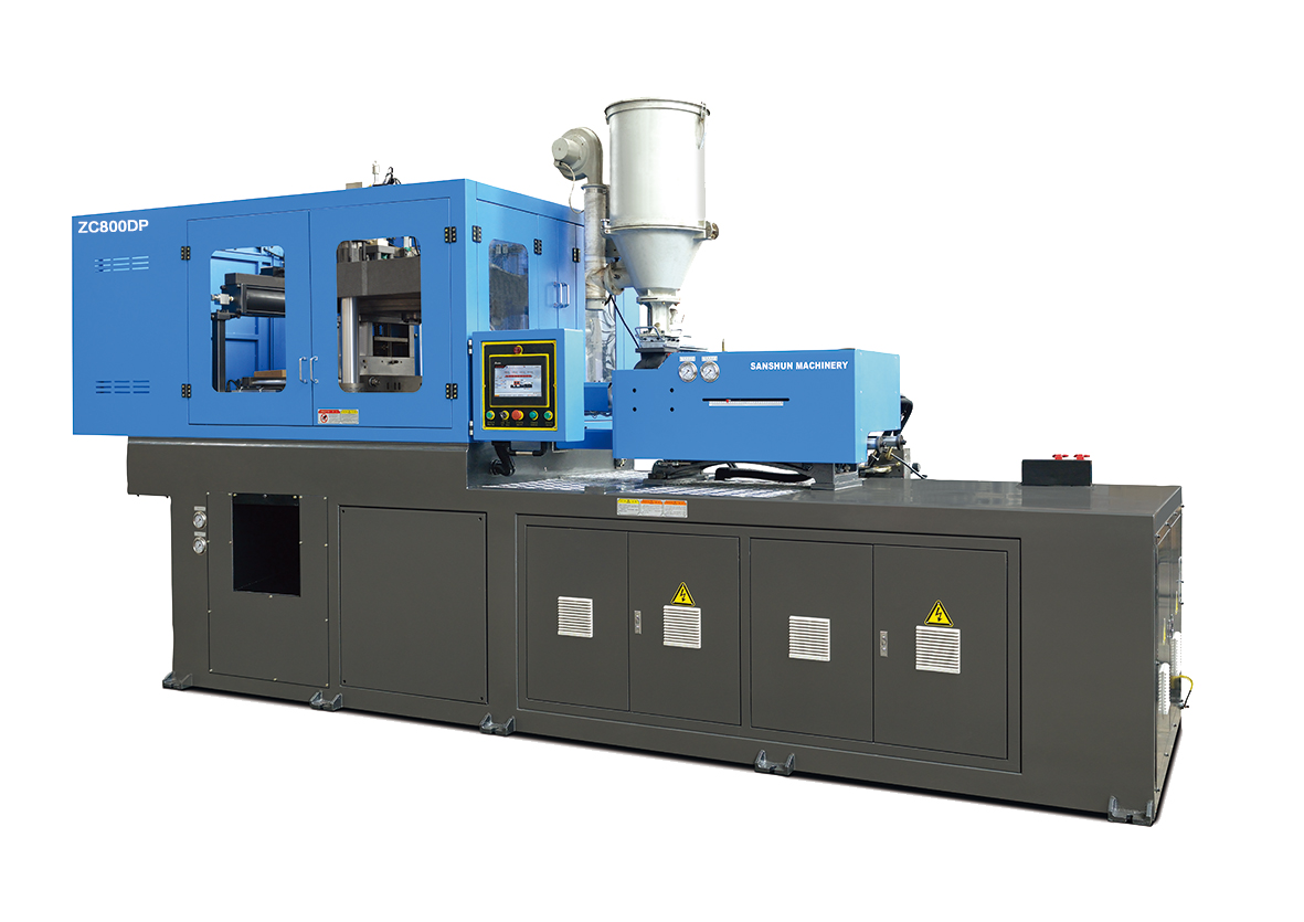 Injection blow molding machine for making LED bulb cover