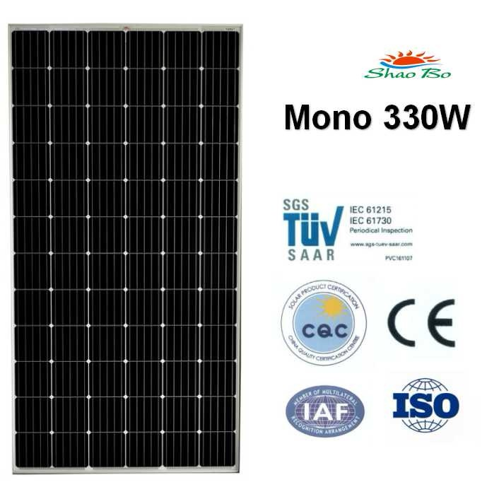High quality crystalline silicon solar  330W Mono Solar Module Quotes,China silicon solar330W Mono Solar Module Factory,good quality 330W Mono Solar Module Purchasing