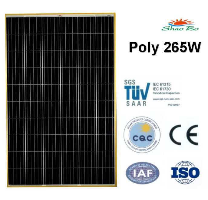 High quality crystalline silicon solar  265W Poly Solar Module Quotes,China silicon solar265W Poly Solar Module Factory,good quality 265W Poly Solar Module Purchasing