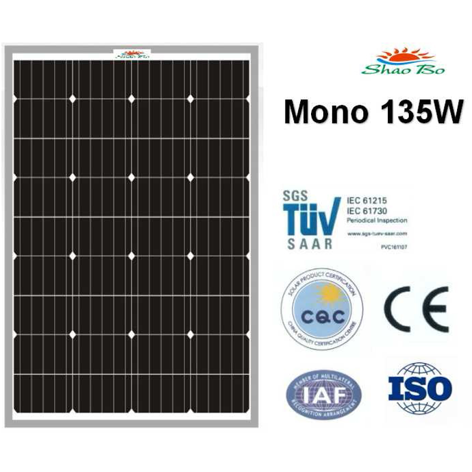 High quality crystalline silicon solar  135W Mono Solar Module Quotes,China silicon solar135W Mono Solar Module Factory,good quality 135W Mono Solar Module Purchasing