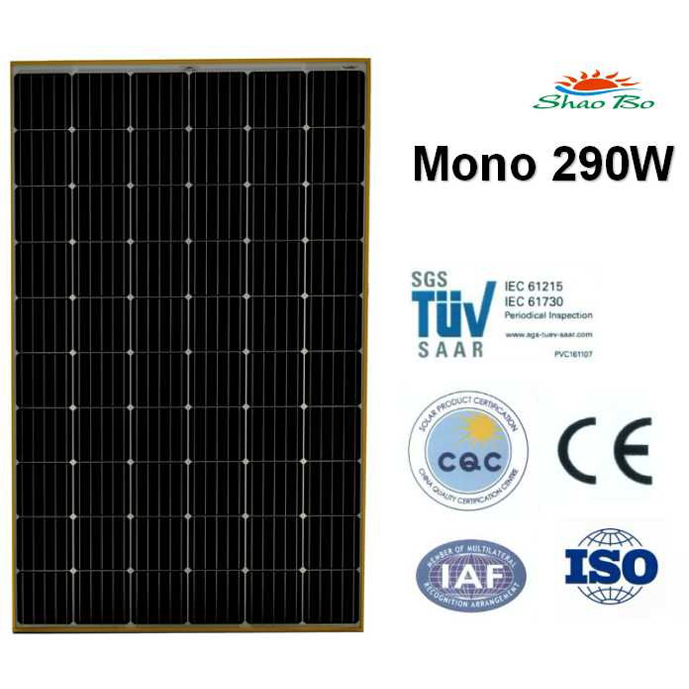 High quality crystalline silicon solar  290W Mono Solar Module Quotes,China silicon solar290W Mono Solar Module Factory,good quality 290W Mono Solar Module Purchasing