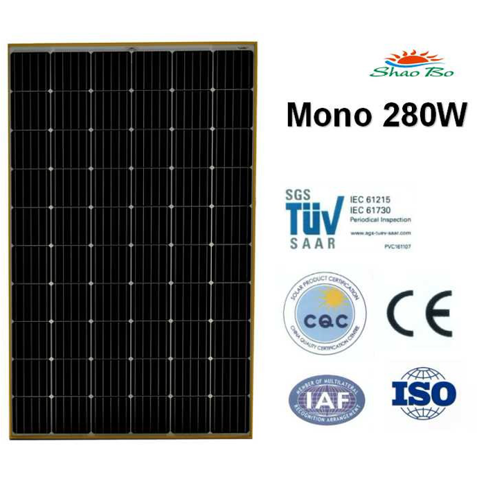 High quality crystalline silicon solar  280W Mono Solar Module Quotes,China silicon solar280W Mono Solar Module Factory,good quality 280W Mono Solar Module Purchasing