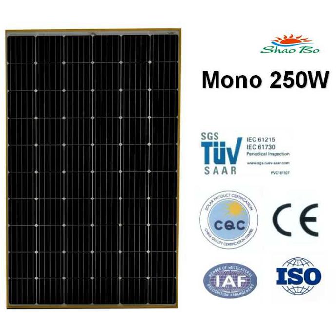 250w Mono Solar Panel
