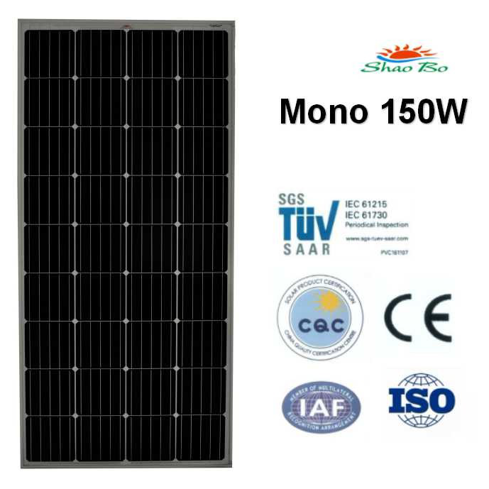 High quality crystalline silicon solar  150w Mono Solar Panel Quotes,China silicon solar150w Mono Solar Panel Factory,good quality 150w Mono Solar Panel Purchasing