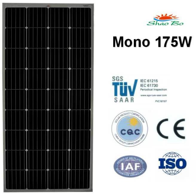 High quality crystalline silicon solar  175W Mono Solar Module Quotes,China silicon solar175W Mono Solar Module Factory,good quality 175W Mono Solar Module Purchasing