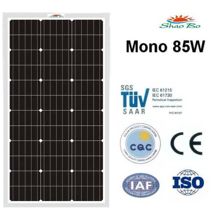 High quality crystalline silicon solar  85W Mono Solar Module Quotes,China silicon solar85W Mono Solar Module Factory,good quality 85W Mono Solar Module Purchasing