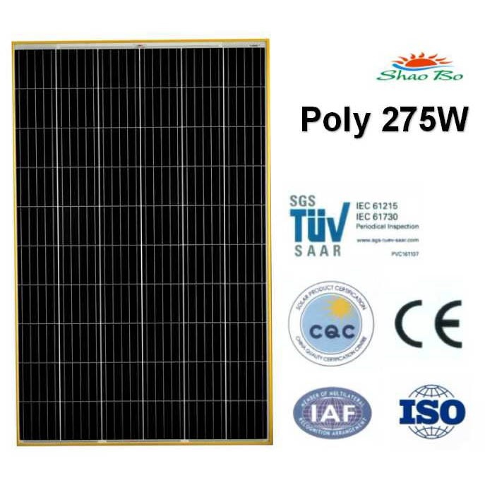 High quality crystalline silicon solar  275W Poly Solar Module Quotes,China silicon solar275W Poly Solar Module Factory,good quality 275W Poly Solar Module Purchasing