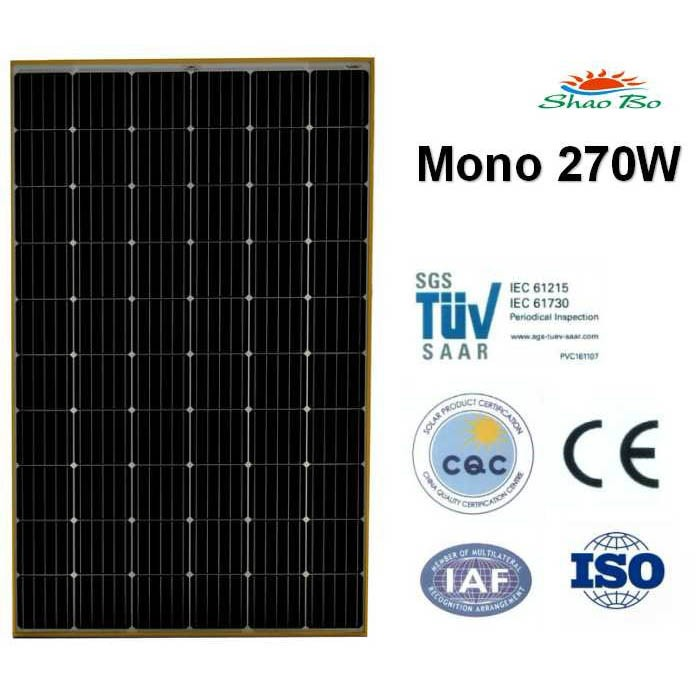 High quality crystalline silicon solar  270w Mono Solar Panel Quotes,China silicon solar270w Mono Solar Panel Factory,good quality 270w Mono Solar Panel Purchasing
