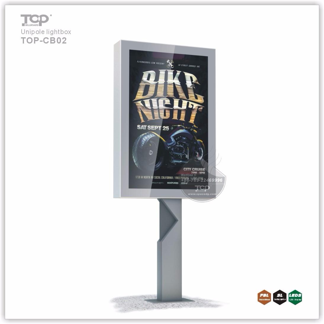 Customized Design Backlit Pole LED Light Box