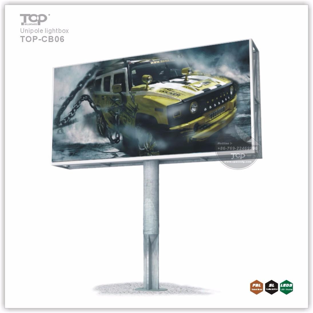 Waterproof Unipole Highway Advertising Light Box