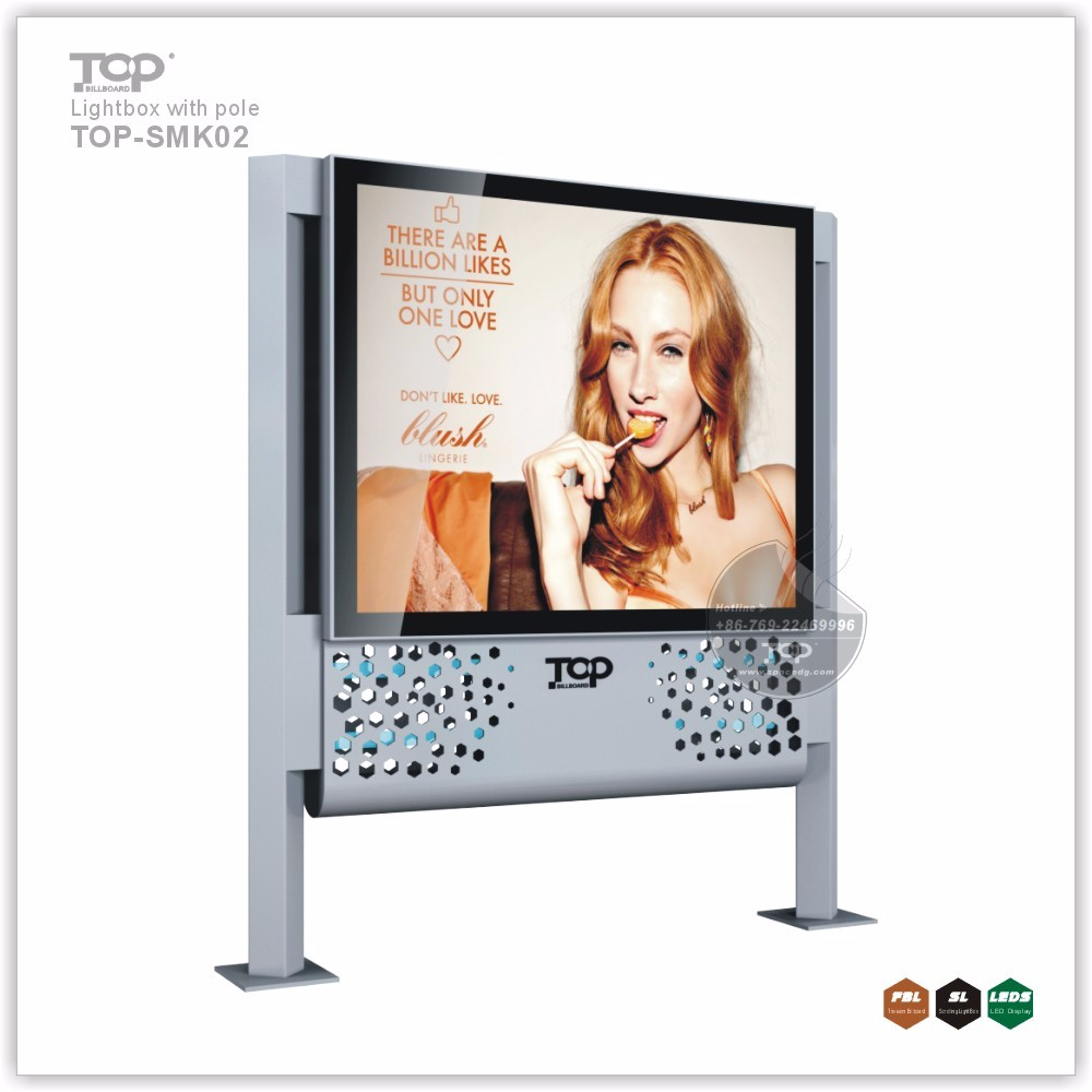 Outdoor Advertising City Road Two Poles Light Box