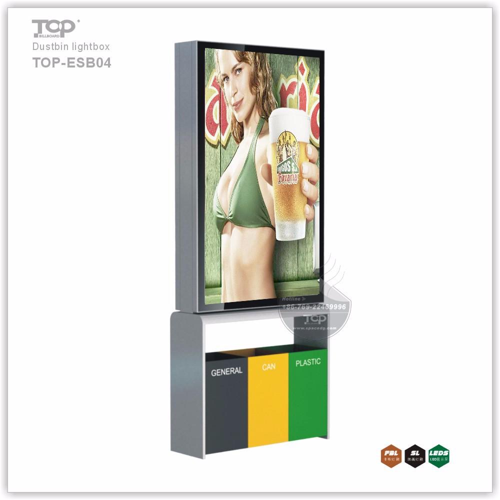 Hot-Sale Scrolling Advertising Dustbin Light Box