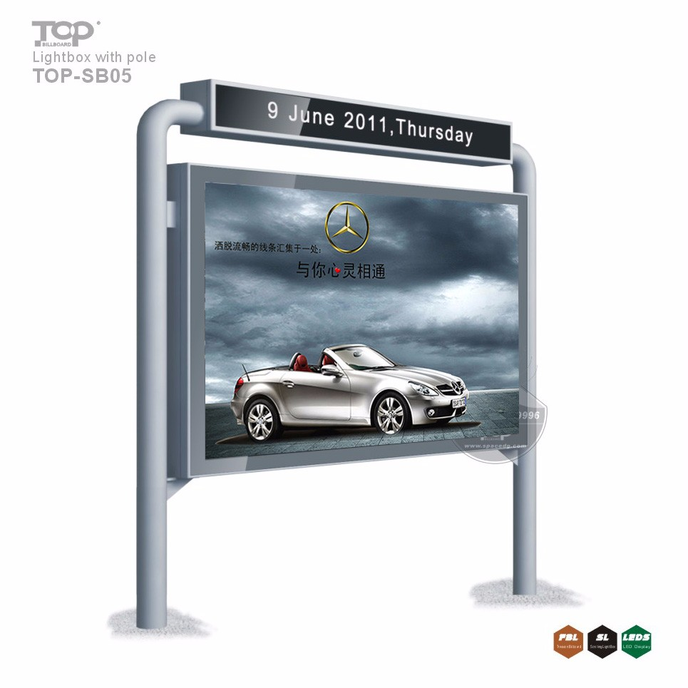 Petrol Station Poster Display Light Box