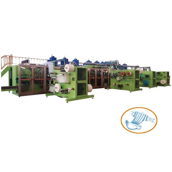 Elastic Earbands Baby Diaper Production Line
