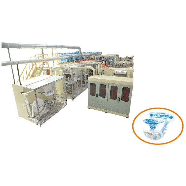I Shape Baby Diaper Manufacturing Machine